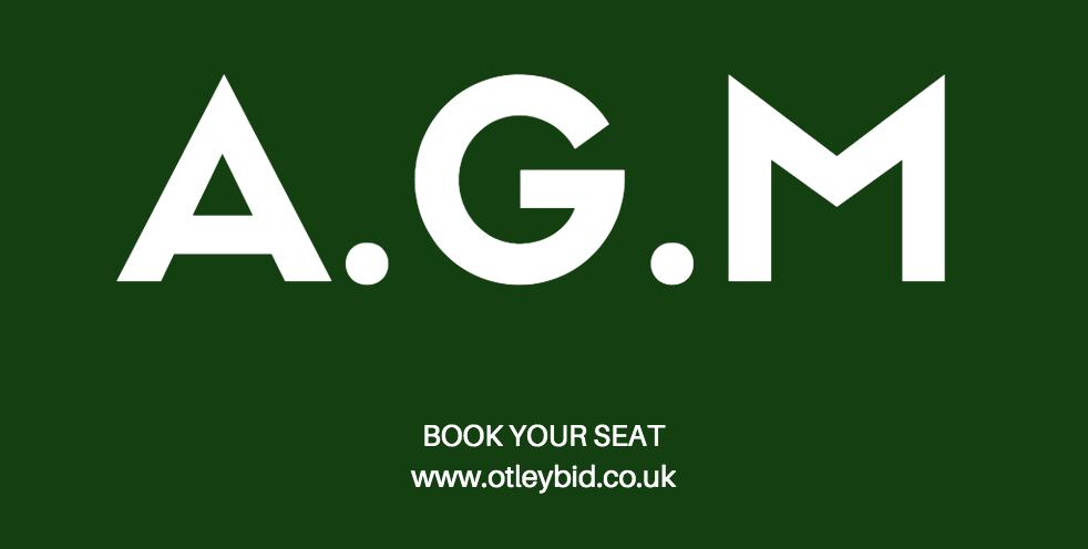 OTLEY BID AGM BOOK YOUR SEAT