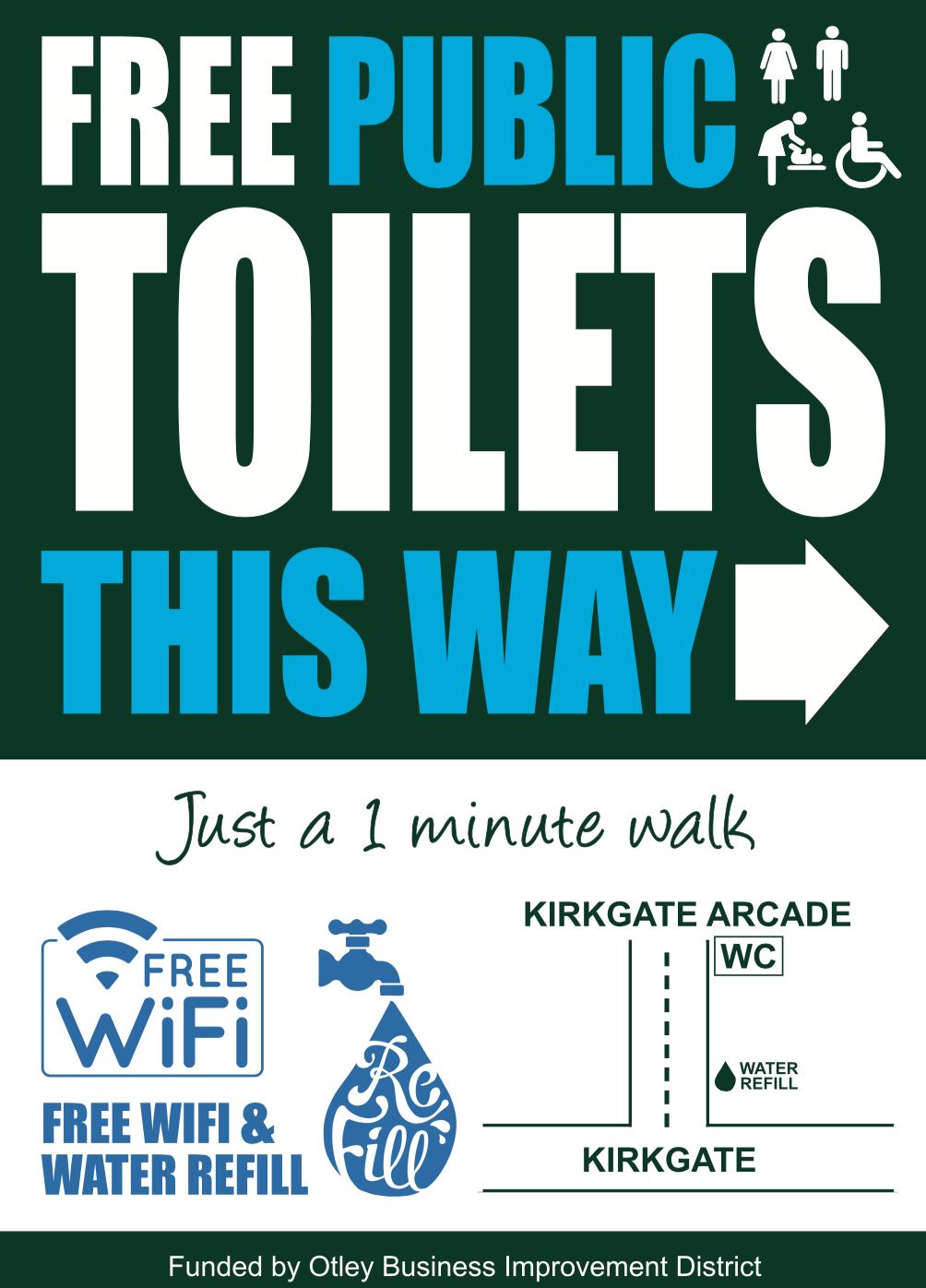 New Public Toilet Signage - Otley BID